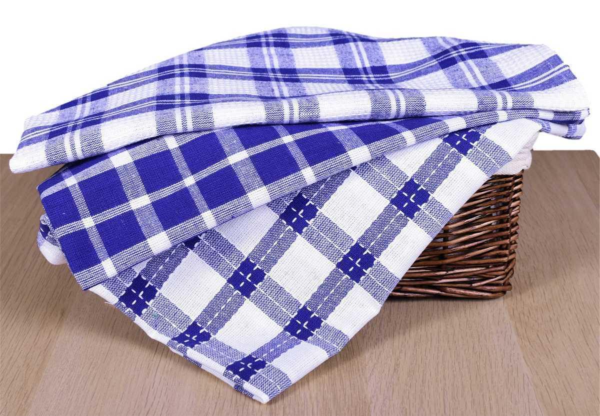 Forbyt, Utierka bavlnená, mriežky a káro komplet 3 ks, modrá