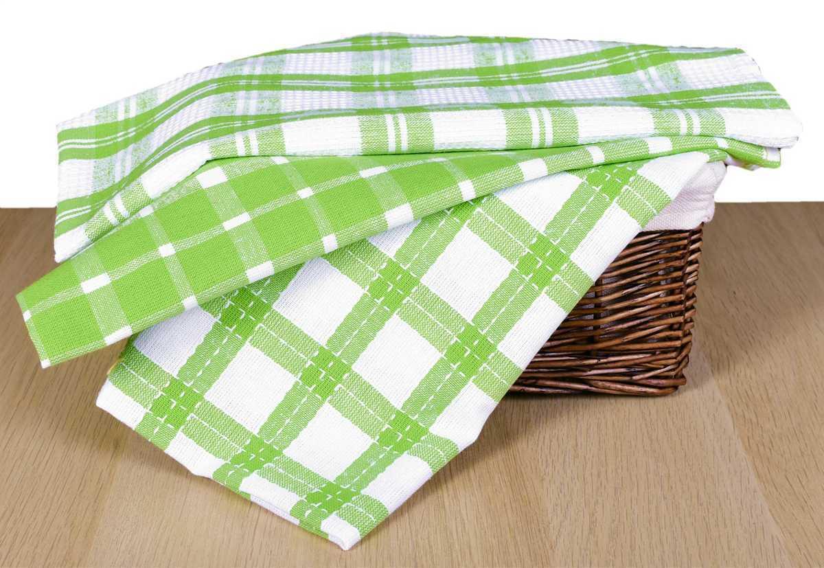 Forbyt, Utierka bavlnená, mriežky a káro komplet 3 ks, zelená