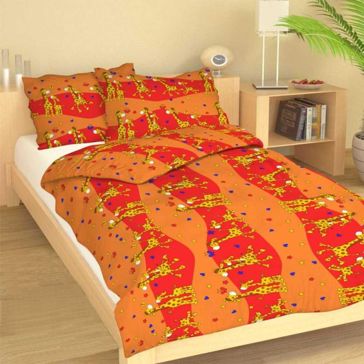 Forbyt, Obliečky bavlnené, Žirafy, 90 x 140 + 45 x 65 cm 90 x 140 cm + 45 x 65 cm