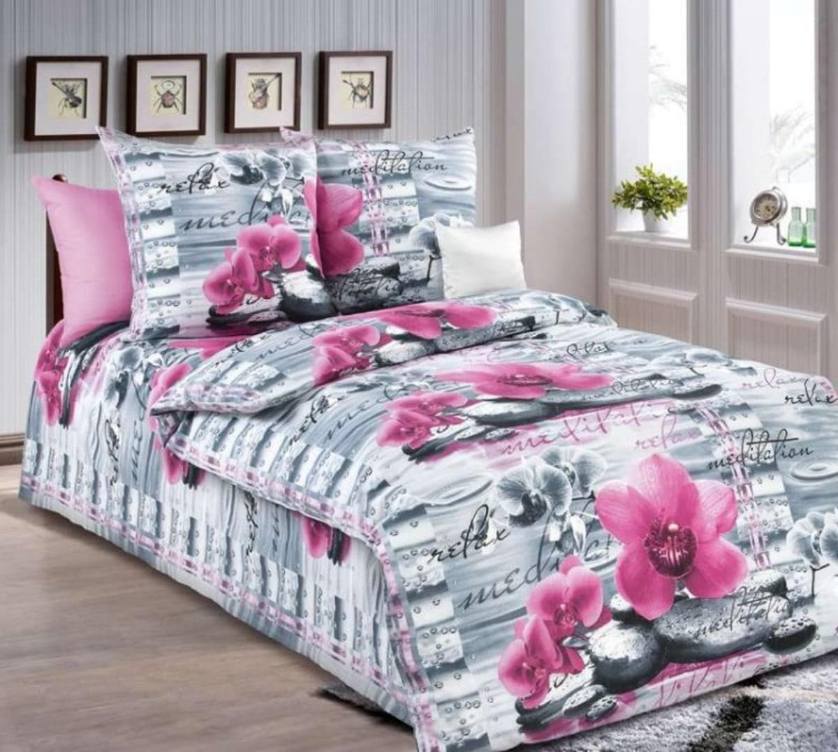 Forbyt, Obliečky bavlnené, orchidea, 140 x 200/70 x 90 cm 140 x 200 cm + 70 x 90 cm