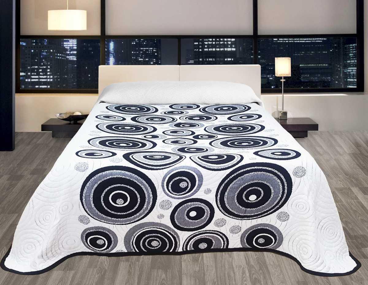 Forbyt, Prikrývka na posteľ, Congo, čeno-biely 140 x 220 cm