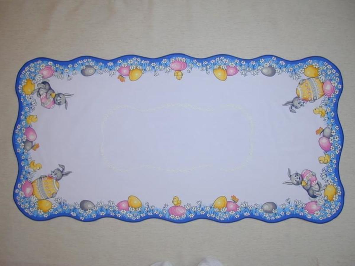 Forbyt, Ubus veľkonočný, Zajac modrá  50 x 100 cm