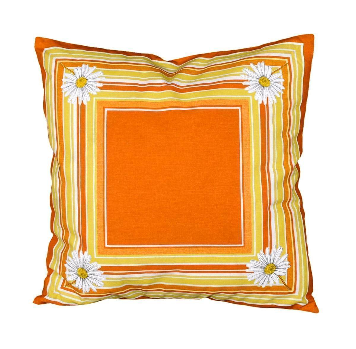 Forbyt, Vankúš, Margaréta, oranžový, 40 x 40 cm vankúš (návlek + vnútro)