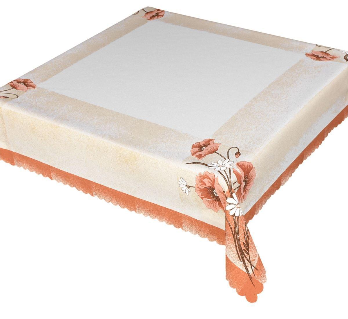 Forbyt, Obrus celoročná, Máky, cihlověsmotanová, 85 x 85 cm